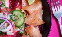 Salade d'hiver betterave, endive, pamplemousse