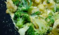 Brocoli et chou-fleur au curry