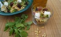 Salade de boulghour abricots, pignons et feta