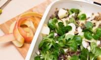 Salade de lentilles, pomme et mozzarella