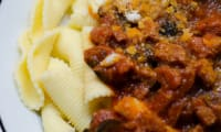 Pâtes au chorizo et aux olives noires
