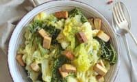 Colcannon, écrasé de pommes de terre au chou vert
