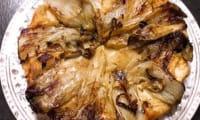Tatin d'endives au chavignol et à la moutarde miel-épices
