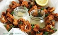 Calamars frits au lait fermenté