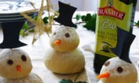 Petits pains en bonhomme de neige pour noël
