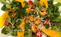 Salade de crevettes mangue au curry