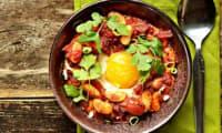 Chakchouka aux Haricots Tarbais, tomate, chorizo