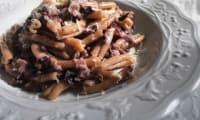 """Pâtes au """"radicchio rosso"""" et chair de saucisse"""