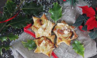 Etoiles apéritives feuilletées au camembert et aux pommes