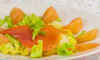 Salade de pomelo et truite fumée