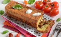Cake mozzarella tomates basilic