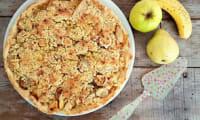 Tarte poires, pommes, bananes façon crumble