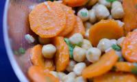 Salade de carottes aux pois chiches