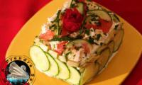 Sandwich cake au crabe