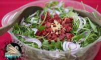 Salade chorizo oignon rouge