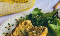 Muffins au chèvre et aux fèves