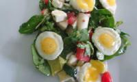 Salade aux oeufs de caille