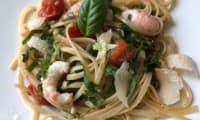 Linguine aux langoustines et aux asperges