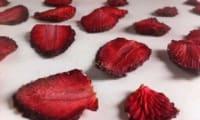 Les fraises séchées ou chip's de fraises