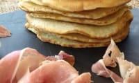Pancakes au thym et jambon de Parme