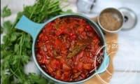 Salade juive - Salade de poivrons grillés et tomate