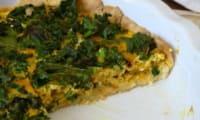 Tarte au choux kale et curcuma