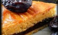 Gâteau breton fourré à la crème de pruneaux