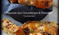 Croquants aux canneberges et pistaches