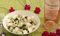 Salade de fèves au fromage