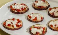 Pizza d'aubergine tomate mozzarella