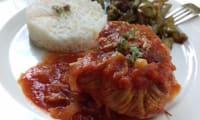 Paupiettes de veau aux olives, sauce tomates
