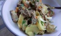 Salade de pommes de terre au boeuf