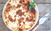 Tarte gourmande aux courgettes, tomates cerises et 3 fromages