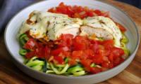 Poulet mozzarella sauce tomate