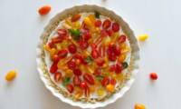Cheesecake aux tomates cerises et chèvre frais