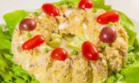 Couronne de pommes de terre au thon et aux oeufs