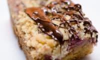 Crumbcake aux framboises et au chocolat