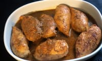 Blancs de poulet marinés au vinaigre de framboise et aux épices