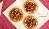 Tartelettes sablées aux figues, ricotta, miel et noix