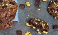 Cookies au chocolat et cacahuètes salées