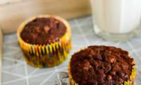Muffins healthy banane, chocolat, avoine