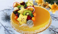 L'Entremets exotique mangue, passion, noix de Coco