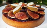 Tarte figues, calisson et speculoos