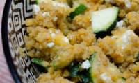 Salade de lentilles corail à la courgette et à la feta
