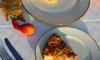 Quiche sans pâte à la courge butternut, feta et noix