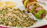 Brochettes de filet de porc aux courgettes