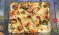 Gratin de saumon aux légumes pommes de terre carottes courgettes poireaux