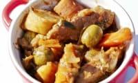 Cataplana de légumes et viande aux herbes