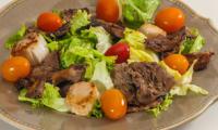 Salade de saint jacques aux coulemelles