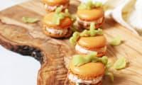 Macaron citrouille et ganache de saumon